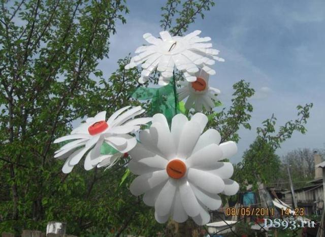 Поделки цветы из пластиковых бутылок